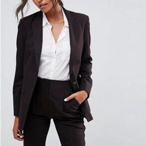 ZARA Woman black single button long blazer size S